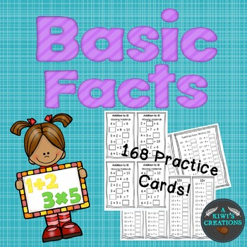 #stockupsale Basic Facts Practice Cards- All Grades