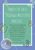 Basic Facts Practice: Family of Facts Triangles