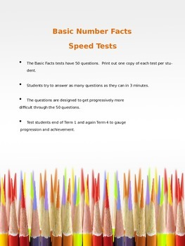 Basic Facts Speed Tests