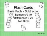 Subtraction Basic Facts Flashcards