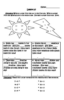 Basic Facts and Relationships Math Journal