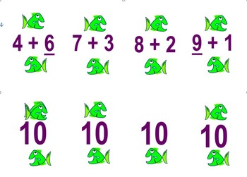 Basic Facts to 10 Go Fish Game