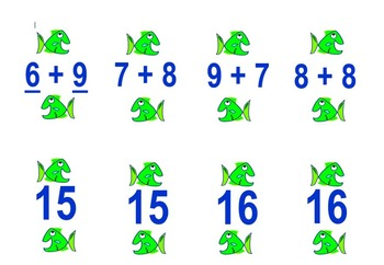 Basic Facts to 18 Go Fish Game