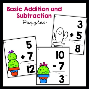 Basic Facts to 20: Addition and Subtraction Puzzles