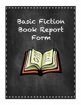 Basic Fiction Book Report Form