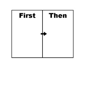 Basic First-Then Board