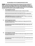 Basic Five Paragraph Essay Skeleton or The Standardized Te