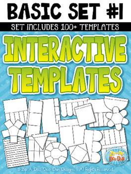 Basic Flippable Interactive Templates Set 1 {Zip-A-Dee-Doo-Dah Designs}