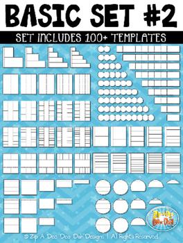 Basic Flippable Interactive Templates Set 2 {Zip-A-Dee-Doo-Dah Designs}