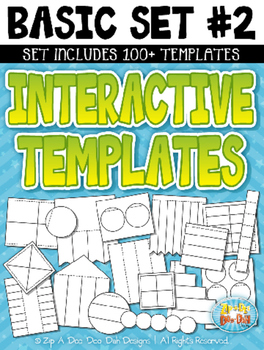 Basic Flippable Interactive Templates Set 2 — Includes 100