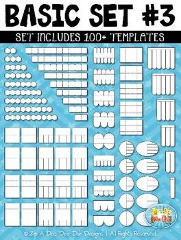 Basic Flippable Interactive Templates Set 3 {Zip-A-Dee-Doo-Dah Designs}