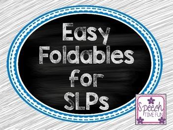 Basic Foldables for SLPs FREEBIE!