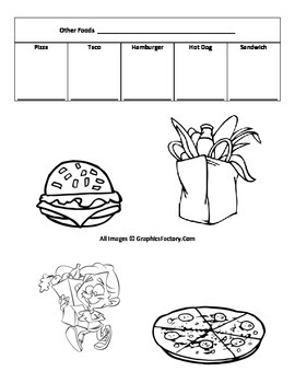 Basic Foods in French Vocabulary Dictionary Handout