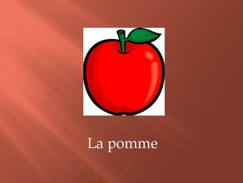 Basic Foods in French and Basic French Articles Vocabulary Flashcards