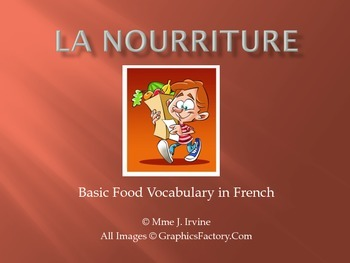 Basic Foods in French and Basic French Articles Vocabulary