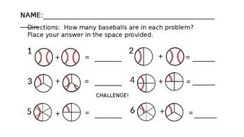 Basic Fraction Addition Sheet