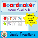 Basic Fraction Cards - Visual Aids for Autism SPED