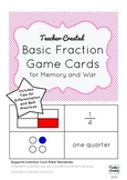 Basic Fraction Game Cards