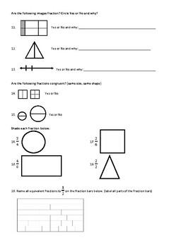 Basic Fraction Knowledge Assessment