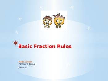 PowerPoint Fractions; As a Part of a Group
