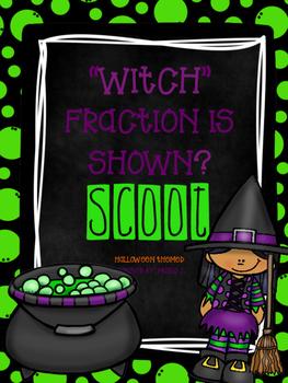 Basic Fraction Scoot  Halloween Themed