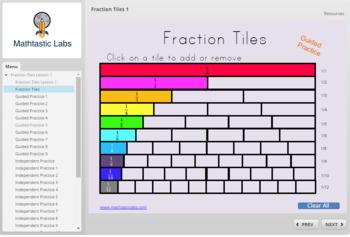 Basic Fraction Tiles 1 (SCORM)
