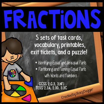 Basic Fractions Unit ~ Covers 5 Fraction Concepts