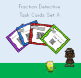 Basic Fractions Interactive  Differentiated QR Reader Task Cards