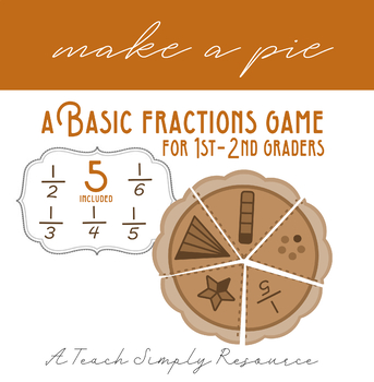 Basic Fractions Pie Game - 1-2nd grade
