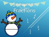 Basic Fractions - Snowman Edition