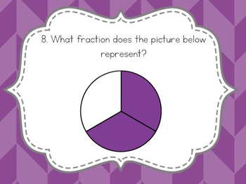 Basic Fractions Task Cards {3.NF.1}