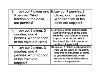 Basic Fractions Using Coins