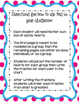 Basic Fractions with Candy Hearts