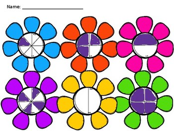 Basic Fractions with Flowers