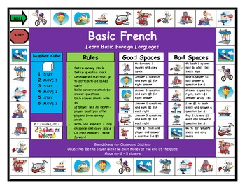 Basic French Board Game