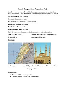 Basic French Geographical Prepositions Project