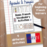 Basic French Vocabulary Activities