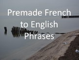 Basic French and English Phrases Flip Book
