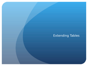 Basic Function Tables