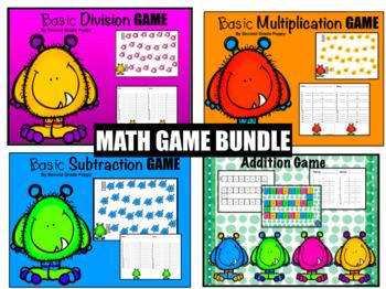 Basic Game Bundle: Addition, Subtraction, Multiplication & Division