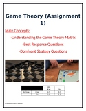 Basic Game Theory Assignment w/ Answer Key