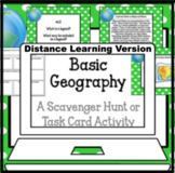 Basic Geography Task Card Activity Set for Google Classroo