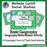 Basic Geography Task Card Scavenger Hunt Centers Activity Set