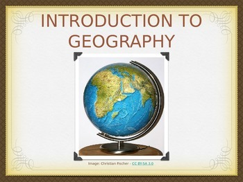 Basic Geography Terms PowerPoint