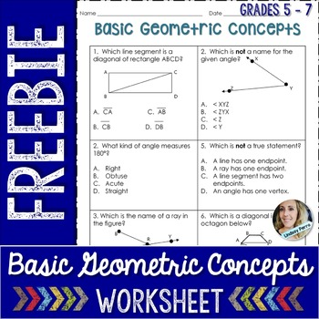 Geometric Concepts Worksheet - Free Activity