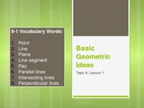 Basic Geometric Ideas (5th Grade EnVision Math) Power Point