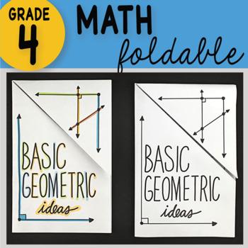 Basic Geometric Ideas Foldable 4th Grade Math Interactive Notebook