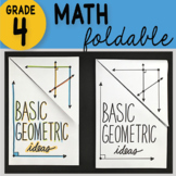 Doodle Notes -Basic Geometric Ideas Foldable 4th Grade Math Interactive Notebook