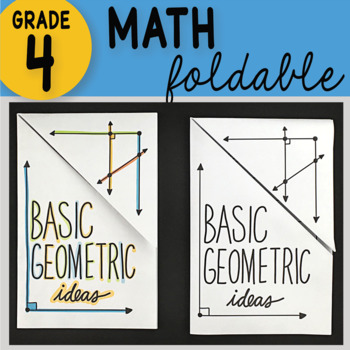Math Doodle - Basic Geometric Ideas ~ INB Foldable Notes ~