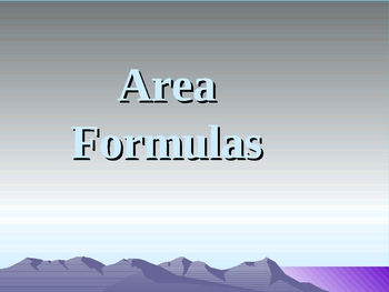 Basic Geometry Area Formulas (triangle parallelgram)